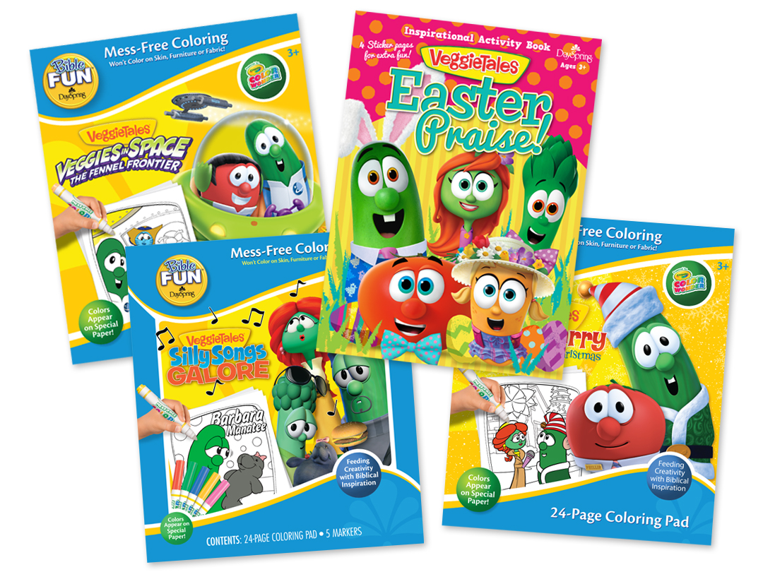 DaySpring - VeggieTales Activity and Coloring Books