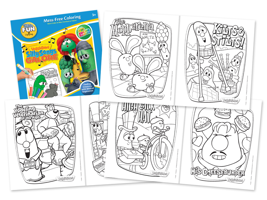 dayspring u2013 veggietales activity and coloring books trent design