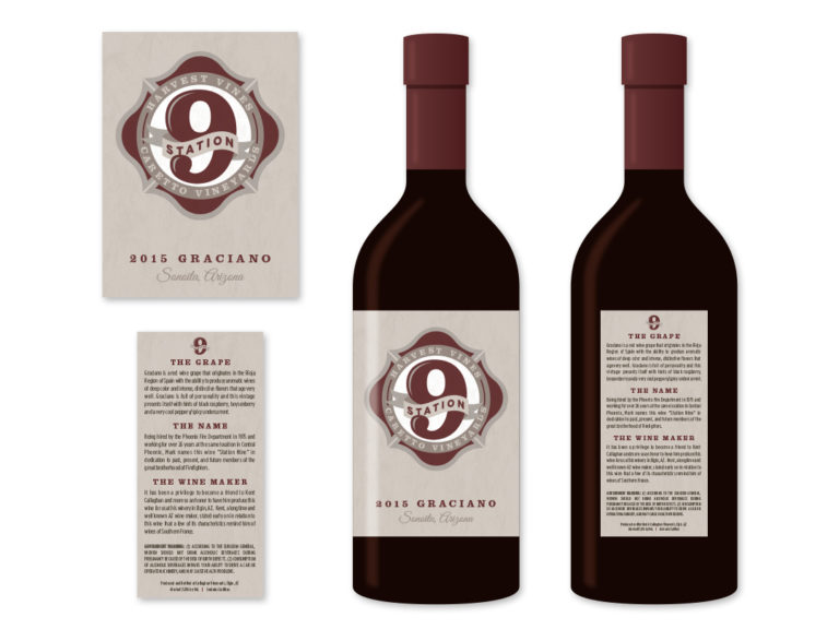 Station 9 Wine Label
